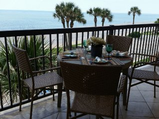 'Tropical Sundancer' 24 Ft Gulf Front Balcony 3 Pools & Hot Tub too