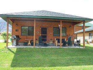 Yellowstone Riverfront Cabin, Sleeps 9, $171-$285/nt, 300 yards to Yellowstone