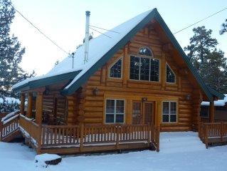 New 3 Br, 2 Ba Full Log Cabin, Sleeps 8-10