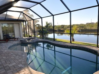 Hibiscus Chateau--Waterfront, Southern Exp Heated Pool/Spa--South Gulf Cove