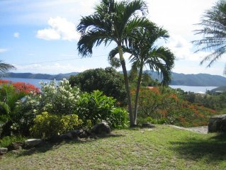 Peach Cottage Studio -Lovely pool with great view of Drakes Channel and St. John