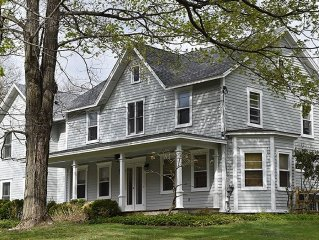 Beautiful Farmhouse W/ Heated Pool & Fireplace, Walking Distance to the Village