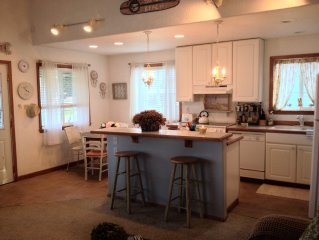 The kitchen is open to the living room area.