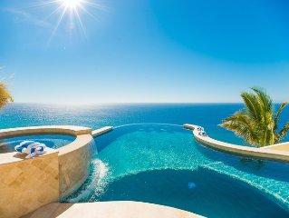 Spectacular Ocean Front 10 bedroom villa.  Best views in Cabo/Pedregal!