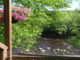 Adirondack Mountains Riverfront Home ~ Stunning Views, Secluded & Pet Friendly