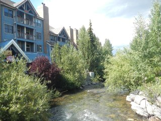Ski-In, Easy Walk Around Breck! On the River & Mountain Views - Remodeled!