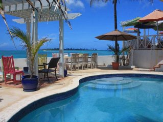 Charming ocean-front beach villa w/ private pool plus SPECTACULAR VIEW!!