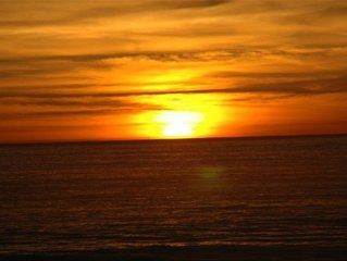 On the beach vacation home. Spectacular ocean & sunset views. Newly remodeled!