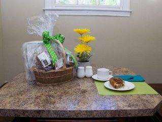 Complimentary basket with breads & pastries