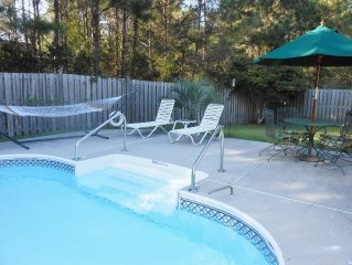 Great Location, 5 miles to Isle of Palms, Private Pool, 3 BR 2 BA
