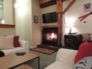 Best Location! Renovated center village Okemo 2 BR - free shuttle outside door!