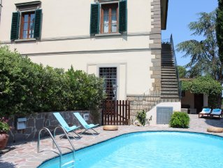 Villa Rogai,Elegant Chianti Villa with Pool and Garden near Florence,great view!