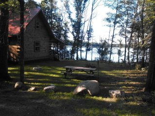 Beautiful Log Cabin Situated On Quiet Smith Lake 3 Miles North Of Hayward, Wi.