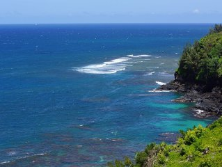 Stunning Oceanfront Penthouse In Princeville