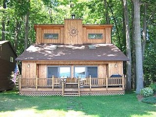 Lake Level Cottage. Sits 30 feet off the water.  What a view!