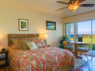 Pefect Location!  Come to Kauai! Ocean Front Studio Romantic Retreat!