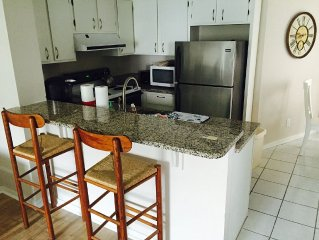 Excellent location!!  Beautiful, updated condo steps from the beach!