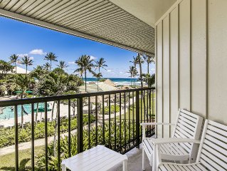 Beach Front Kauai Beach Resort Top Floor Great Ocean/Pool Views, New Renovation!