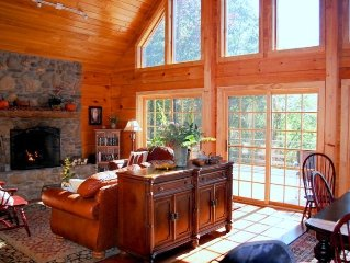 Elegant Large Log Home W/Beautiful Views, Pool Table & Stream!