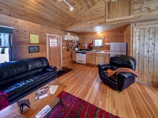 Charming Knotty Pine Cottage on 575 Acre Forest Preserve