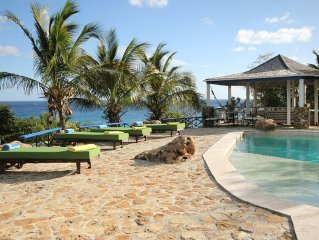 The Carib House, Turtle Bay 5 room villa, pool, views, beach, English Harbour