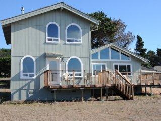 SeaPines Oceanview Home mid way between Ft. Bragg & Mendocino Village