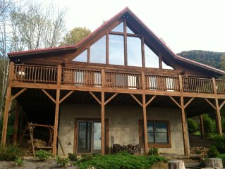 Luxury Cabin Spectacular Views Trout Streams Stone Fire Pit Golf Hiking