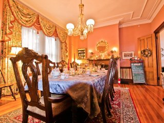Two Victorians-one House and one Mansion Rentals Central Location w/ Parking.