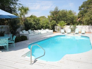 90 Steps to the Beach! Beautiful Inground Pool with privacy fence.