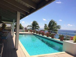 Spectacular Views Of Caribbean, St. John, Am. Yacht Harbour, Walk to Beachs