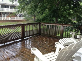 Spring Specials!Cute & Cozy Beach House W/ Large Rear Deck overlooking canal