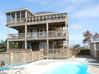 5 start rated Ivey Coast 6BR, Sleeps 14, Pool, Hot Tub, No Damage from Dorian