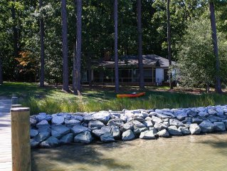 Cottage close to town, hot tub, water views!