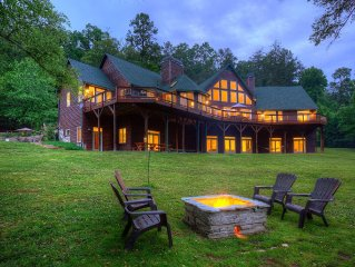 Riverfront Lodge that Sleeps 34+, Heated Pool, Movie Theatre, Sports Bar!