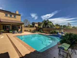 Beautiful 4 bedroom home w/private heated pool to swim & golf in Verrado!