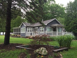 Brand new lake cottage rehab 1/3 acre - steps to private association beach