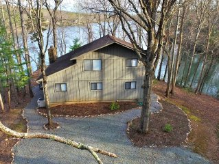 Rustic Cottage On Gently Sloping Point Lot With 500 Feet Of Private Waterfront
