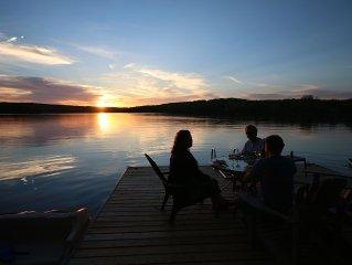 Reflection Bay - Spectacular sunsets on Lake Kashagawigamog