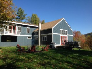 Killington Secluded 6 Acre Mtn. View Property, Sleeps 32 + Game Room