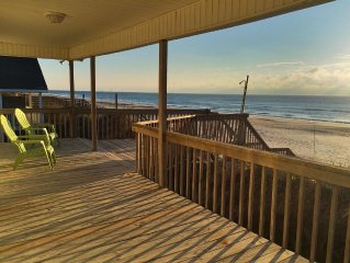 iSea - Ocean Edge, Beach is at the Porch end. 100ft Frontage and a covered deck