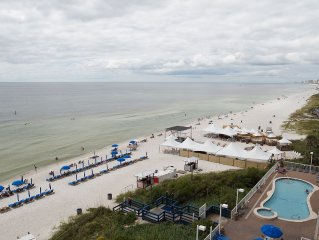 Beach Front, End Unit on 6th Floor with With Large Wrap Around Patio!  3 BR/2BA