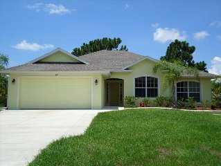 3 Bedroom Home with Heated Private Pool Close to Golf & Beach