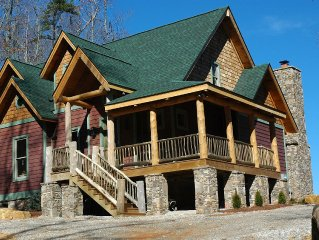 New Cabin with Spectacular Views of Fontana Lake and Mts - Virtual Tour