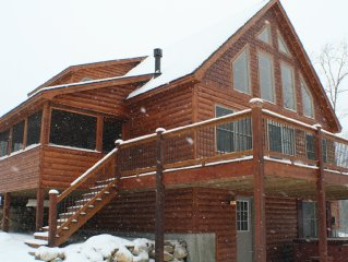 Luxury Lodge with Hot Tub, Fireplace, Mountain and Sunday River Ski Resort Views