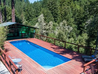 137 5-STAR REVIEWS *LUXURY* PRIVACY*VIEWS*REDWOODS*SUNNY*POOL*SAUNA*SPA*THEATER!