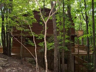 Nestled in the woods, 3 Decks, Fireplace, Game Rm, & Feed the Deer!