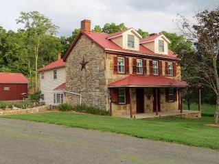 18th Century Stone Home on 72-acre Farm, Tuscarora & Cove Mts., Near Whitetail