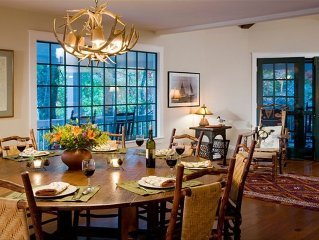 Dining Room Opens to Porch and Lake Views