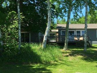 Lake Pokegama! Level lakeshore! 5 Bedroom Cabin! (Cabin 2 of 3; Sleeps 10)