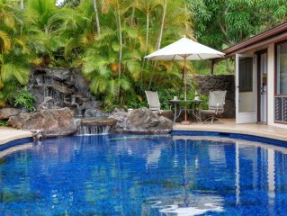Akialoa Getaways: Deluxe Suite with amazing patio area!